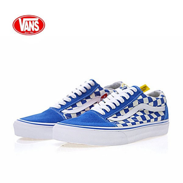Vans Old Skool Primary Check 老茱利安系列經典硫化帆布板鞋 藍白格子 VN0A38G1P0T