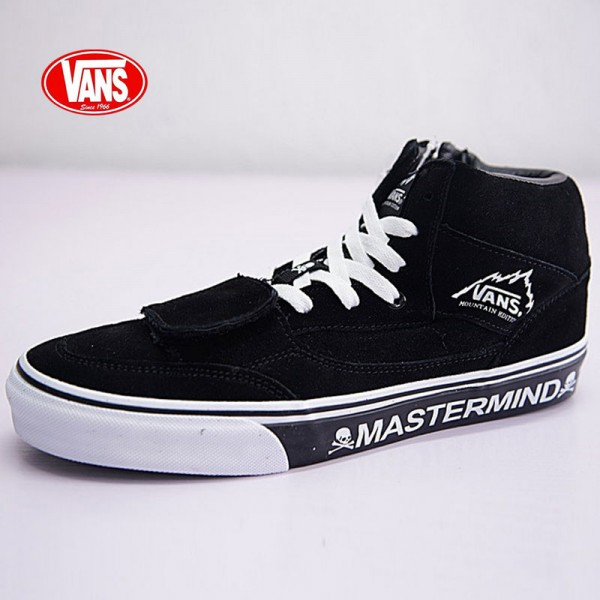 mastermind JAPAN x Vans Mountain Edition 中帮 系带 魔术贴 皮面 MMJ皮革黑白